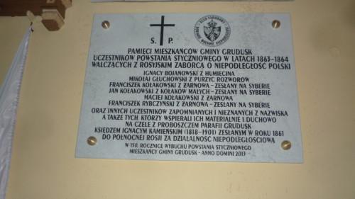 150 rocznica Powstania Styczniowego -tablica w Grudusku 016